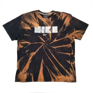 Nike Custom Tie Dye Bleached T-Shirt Logo Tee XL